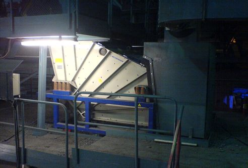 Iron ore, separated with a Mogensen sieving machine SEL2046